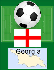 Georgia soccerr football sport world flag map