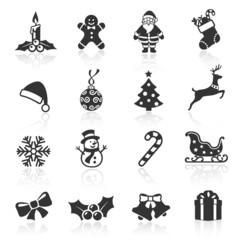 Black Christmas Icons