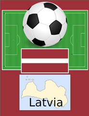 Latvia soccer football sport world flag map