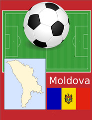 Moldova soccer football sport world flag map