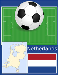 Netherlands soccer football sport world flag map