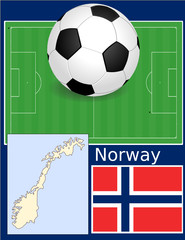 Norway soccer football sport world flag map
