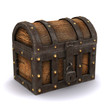 3d Treasure chest closed