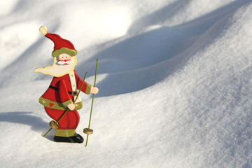 Santa claus by skiing