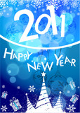 2011 card beautiful vector illustration of chritsmas and new yea