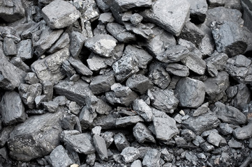 background of stockpiled coal