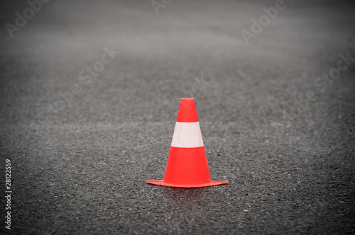 Cone signalling roadworks