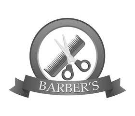 Barbershop logo. Vector illustration.