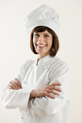 Confident Female Chef