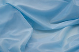 Blue synthetic fabric poster