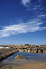 La costa di Punta del Diablo, Uruguay