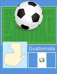 Guatemala soccer football sport world flag map