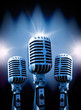 fondo musical con microfono retro
