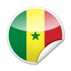Pegatina bandera Senegal con reborde