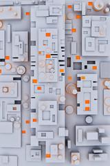 Sfondo di geometrie 3d semplici