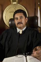 Judge in court, portrait