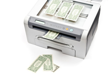 Printer and dollars