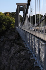 Clifton Suspension Bridge across the Avon Gorge UK