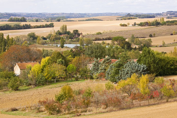 Autumn Landscape in Gascony SW France