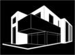 modern house, vector