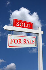 For sale and sold sign