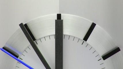 Time Concept - Uhr blauem Sekunden Zeiger