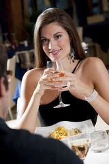 Elegant Couple at The Restaurant