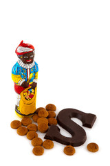 Black Piet with traditional candy