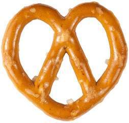 a single pretzel isolated