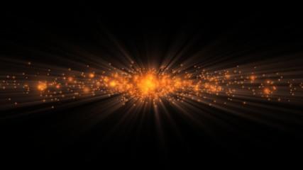 Twinkling particles orange, loop