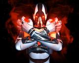 advanced cyborg character poster