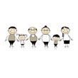 Detaily fotografie Šťastná rodina společně - rodiče a děti
