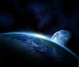 Fototapete Planentarium - Sterne - Planeten