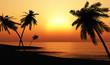 Leinwanddruck Bild - Ibiza Sunset Chillout Beach 03