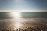 Beautiful sunny shore, Shot with long exposure daytime poster