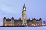 Canadian Parliament at dusk, Ottawa