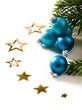 Christbaumkugeln mit Sternen