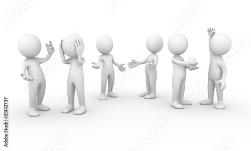 Group of people talking