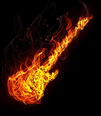 Fire electronic guitar
