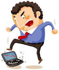 Breaking the laptop by Huge Stress