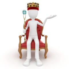 3d man king on the throne