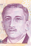 Portrait of the President of Singapore from 2 dollars banknote poster