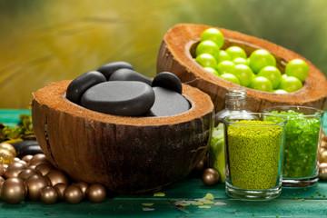 Bath salt and massage stones