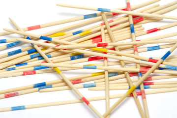 stack of mikado sticks