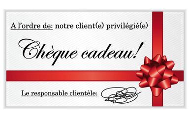 Chèque cadeau!