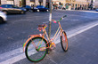 oldfashioned bicycle in the street of Roma