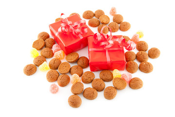 Typical dutch sweets: pepernoten and presents