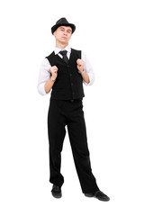 Young gentleman standing