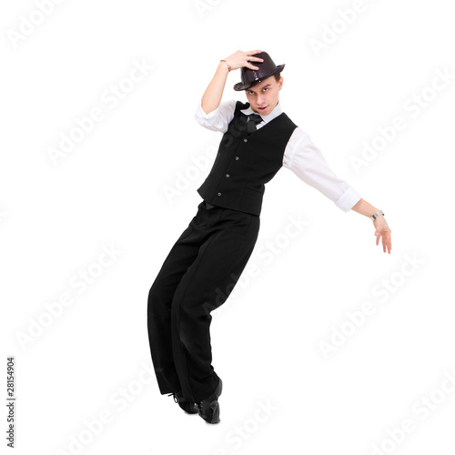 Young gentleman dancing