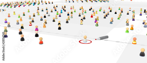 Cartoon Crowd, Circled One
